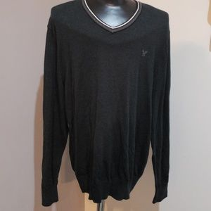 American Eagle green/navy blue sweater size xl
